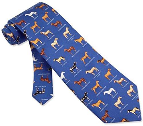 Name That Horse Blue Silk Tie Necktie - Men