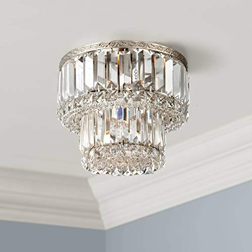 - Magnificence Ceiling Light Flush Mount Fixture Brushed Satin Nickel 10