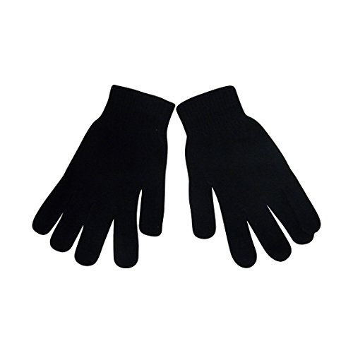 Ladies Gloves Magic Knit Gloves for Women Solid Colors - Black (Gloves Knit Women)