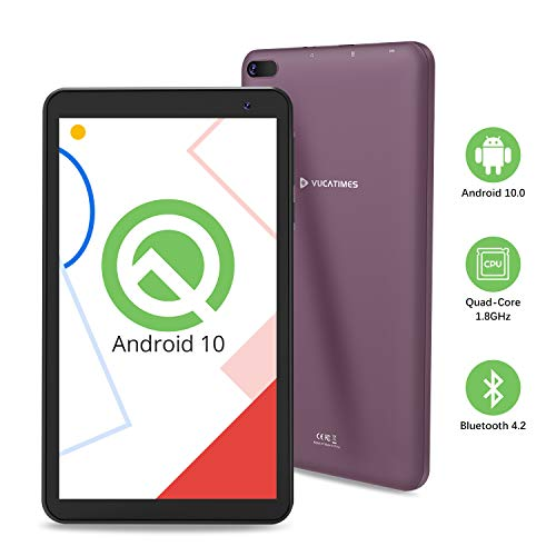 Tablet 7-Inch Android 10.0 Wi-Fi - VUCATIMES N7 Tablets 16GB ROM 1.8 GHz Quad-Core Processor IPS HD Display Bluetooth 4.2 (Purple)