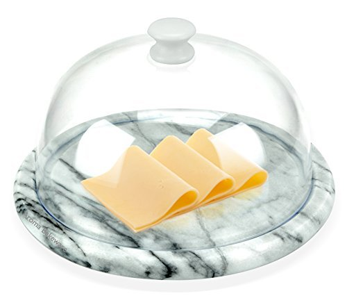 Aroma Bakeware Cheese Dome With Marble Base Plate - Dome Marble