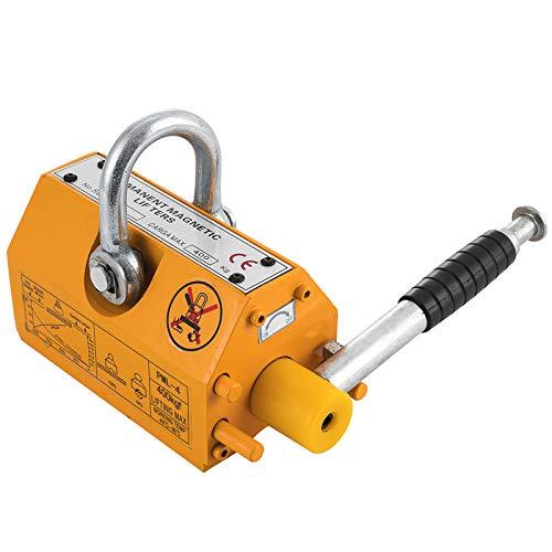 SHZOND Magnetic Lifter 880LBS Crane Hoist Lifting Magnet Neodymium Iron 400KG Metal Lifting Magnet (880LB)