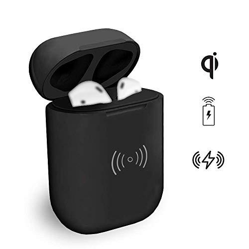 AirPods대응 wireless 충전용 교환 케이스 Wireless AirPods충전기 케이스  (AirPods 불포함,Bluetooth 기능없음) 450mAh내장 배터리 충전기부착