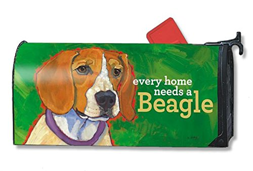 Mailwraps Beagle Dog Magnetic Mailbox Cover