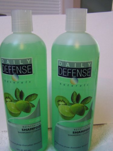 Daily Defense Naturals - Refreshing Kiwi Lime Shampoo Set of 2