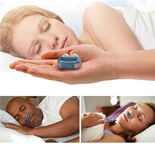 Enshey Anti Snoring Devices, Silicone Snore Stopper Air Cleaning Breathing Device Nose Clip Nasal Dilators Filters Sleeping Equipment Defense Nose (White)