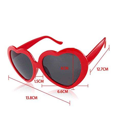 Providethebest de corazón del sol Negro Rosado lindo Amor de la Diseño forma Gafas AC4qArw