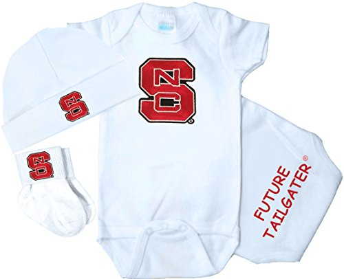 State Set Wolfpack Nc (Future Tailgater NC State Wolfpack 3 Piece Baby Gift Set (Newborn))