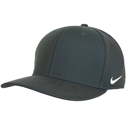 (NIKE Team Df Swoosh Flex Cap (Anthracite/White, M/L))