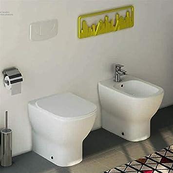 Sanitari Con Scarico A Muro.Sanitari Filo Muro Ideal Standard Tesi Con Scarico Traslato