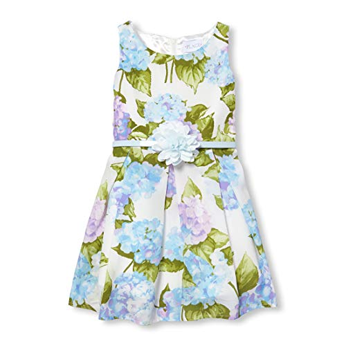 The Children's Place Big Girls' Sleeveless Pleated Dress, Baby Blue, 8 (Best Places For Dresses)
