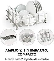 Klarstein Amazonia Mini Lavavajillas - Función Vapor y Secador , Pantalla LED , 6 programas , 2 cubiertos , Consumo de agua: 5 litros , Señal sonora ...