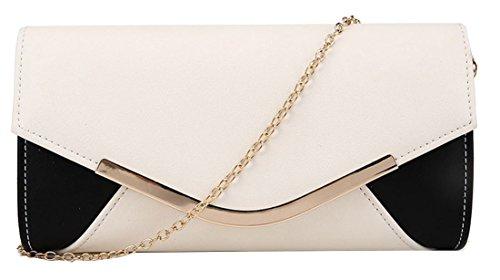sac enveloppe Prom avec de pochette à Kukubird Black main Party panneau amp; sac Ivory Harlie Kukubird soirée Simple qtnwpwS0