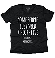 Need A High Five Humorous Women Shirts Funny Picture Shirt V-Neck T-Shirt