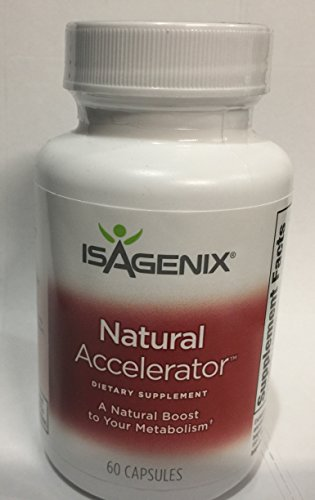 (Isagenix Natural Accelerator 60 Capsules - Better Metabolism for Thermogenesis with High Quality Ingredients)
