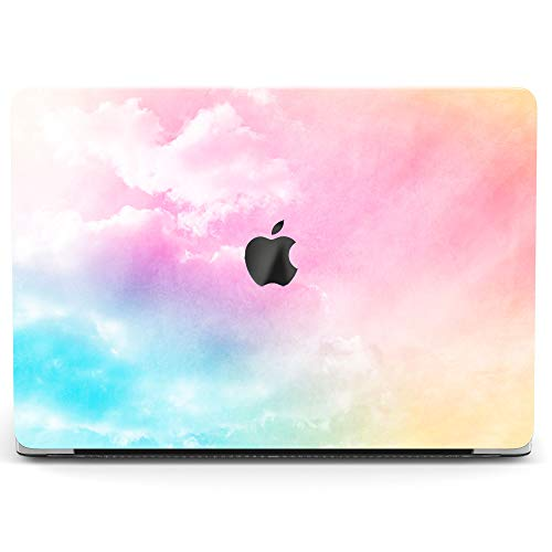 Wonder Wild Case For MacBook Air 13 inch Pro 15 2019 2018 Retina 12 11 Apple Hard Mac Protective Cover Touch Bar 2017 2016 2015 Plastic Laptop Print Rainbow Clouds Colored Abstract Pink Iridescent Sky]()