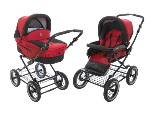 ram Stroller 2-in-1 with Bassinet and Seat Unit 6 (Six) Colors - Red ()