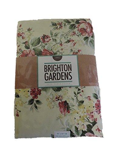 Brighton Gardens PEVA Tablecloth - English Garden (52
