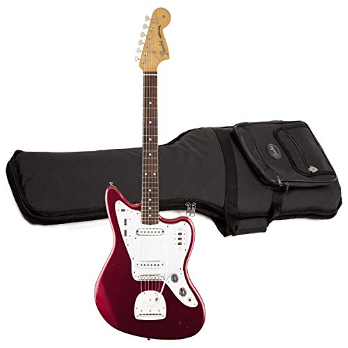 Fender Classic Player Rosewood Fingerboard with Deluxe Gig Bag Solid-Body Electric Guitar, Candy Apple Red