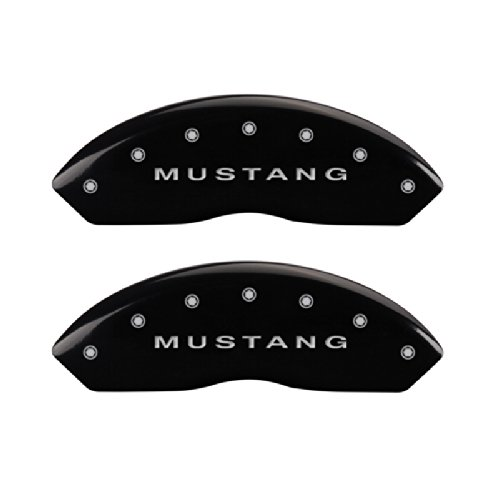 MGP Caliper Covers 10198SMBPBK Caliper Cover with Black Powder Coat Finish, (Set of 4) by MGP Caliper Covers