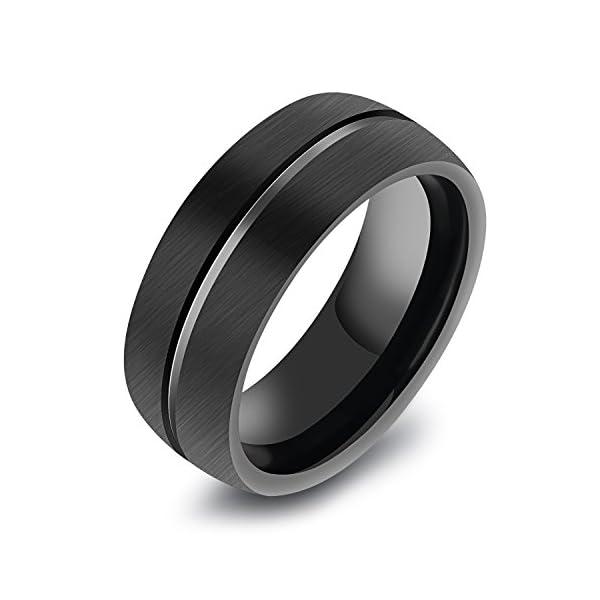 Women/'s 5x5mm Round Cut Dark Blue CZ Center Stainless Steel Cocktail Ring