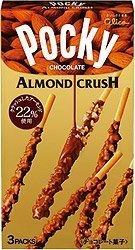 Glico Pocky Chocolate with Almond Crush Cream Covered Biscuit Sticks 1.37oz -