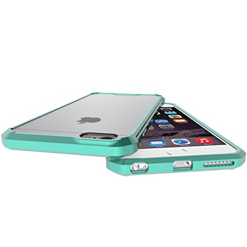 """iPhone 6s Plus Hülle, HICASER PC + TPU Hybrid Bumper Case Schutzhülle Crystal Transparent kratzfeste Tasche für iPhone 6 Plus / 6S Plus 5.5"""" Minzgrün"""