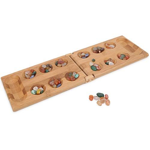 Mancala Game Folding Mancala Board Game Travel Game African Stone - Slate African