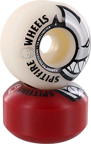 Spitfire Wheels Bighead Classic Mash-Up White/Red Skateboard Wheels - 54mm (Set of 4) ()