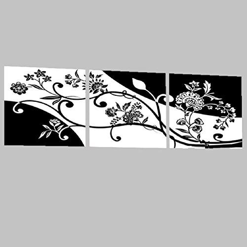 壁掛け アートパネル 【AP015 モダンアート 草木 花 70×70㎝×3パネルセット】12㎜キャンバス 印刷布製 キャンバスアート 壁飾り B07DCNR2TL 20748 12mmキャンバス|70×70㎝ 70×70㎝ 12mmキャンバス