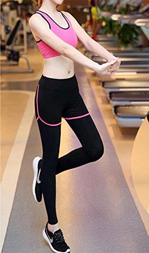 YN Ensemble de costume de yoga manches longues Slim vêtements de sport était mince de remise en forme Running yoga sportswear s