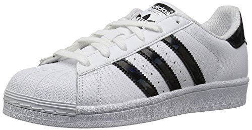 adidas Unisex-Kids Superstar J, White/Core Black/White, 4 M US Big Kid by adidas