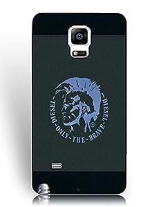 Samsung Galaxy Note 4 Fundas, Shell Hard Plastic Fundas, Luxury Diesel Brand Logo Photo Fundass Cover for Fans/Athletic