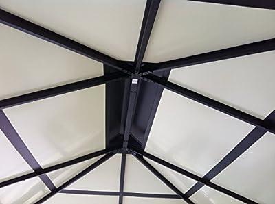 Paragon-Outdoor GZ3584 Backyard Structure Hardtop Durham Gazebo, 10' x 13' Black