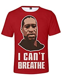 2020 Mens Summer Sports 3D Printing Shirt,I Can't Breathe T-Shirts,Women Loose Large Size Breathable Short Sleeve