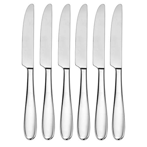 CraftKitchen Open Stock Stainless Steel Flatware Sets (Classic, Dinner Knives Set of 6)