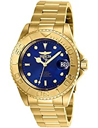 Men's Pro Diver Automatic-self-Wind Stainless-Steel Strap, Gold, 20 Casual Watch (Model: 26997)