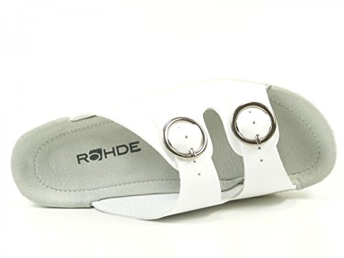 Rohde 7462-00 Neustadt -50 Zapatillas de estar por casa para mujer Weiß