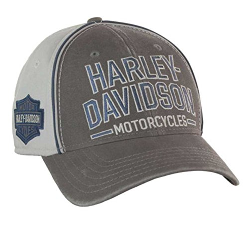 Harley Davidson Fitted Hats: Harley-Davidson Men's Baseball Cap, Embroidered Bar