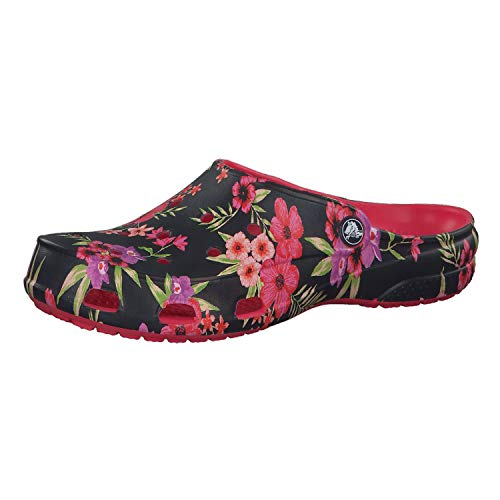 Crocs Women's Freesail Printed Clog, Tropical Floral/Poppy, 5 M - Printed Croc