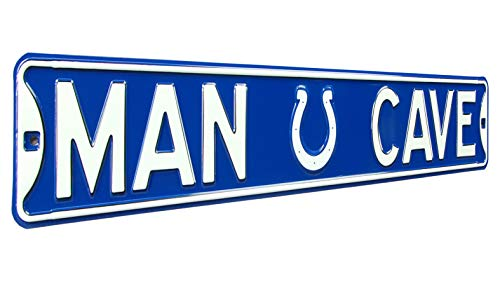 Sign Colts Street Indianapolis - NFL Indianapolis Colts Man Cave, Heavy Duty, Steel Street Sign