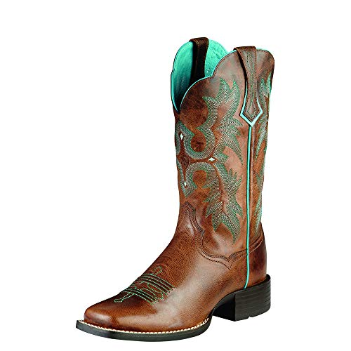 (ARIAT Women's Tombstone Western Boot Sassy Brown Size 8.5 W Us)