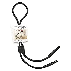 EK Ekcessories Cat Strap Eyewear Retainer (Black, One Size)