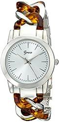 Geneva Women's 2406A-GEN Analog Display Quartz Silver Watch