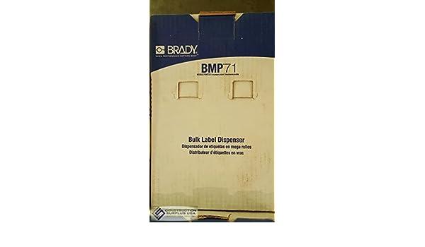 Amazon.com: Brady Bm71-375-175-342 Cartridge Label, 1-13/17 In. L, White: Industrial & Scientific