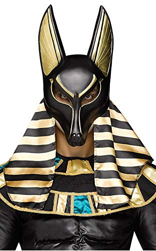 Fun World Men's Anubis Mask Adult, Multi, Size -