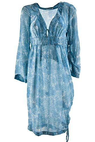 Maglina Scervino Roben Damen Kleid Fuchsia Blau Blumen Ermanno x7Iq6WOx