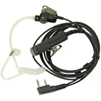 Professional PTT Covert Acoustic Tube Bodyguard FBI Earpiece Headset Mic for 2-pin Kenwood Nexedge Hytera Puxing Wouxun Radio