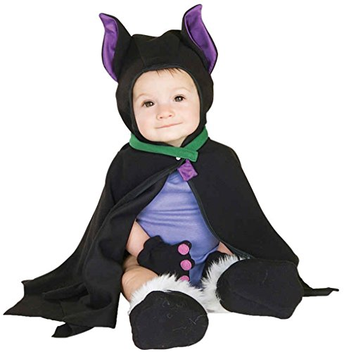 [UHC Baby's Lil Bat Vampire Caped Infant Child Halloween Costume, 3-12M] (Toddler Vampire Halloween Costumes)