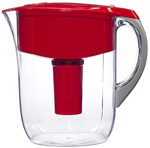 Pitcher Water Ionizer Purifier Filter Large Brita Grand Water Filter Pitcher Red 10 Cup Water Purifier